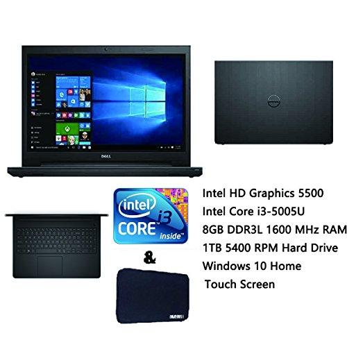 Dell Inspiron 15 High Performance Laptop, 15.6-Inch HD Touchscreen, Intel Core i3-5005U 2.00 GHz, 8GB , 1TB HDD, DVD +/- RW, WiFi, HDMI, Windows 10