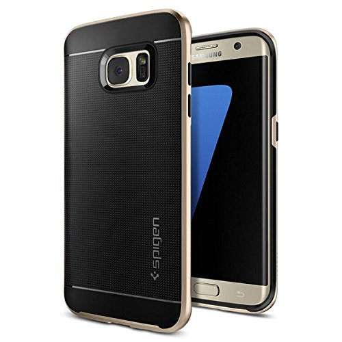 【Spigen】Galaxy S7 Edge ケース, ネオ・ハイブリッド [ 米軍MIL規格取得 二重構造 スリム フィット] ギャラクシー S7 エッジ 用 カバー (Galaxy S7 Edge, ガンメタル)