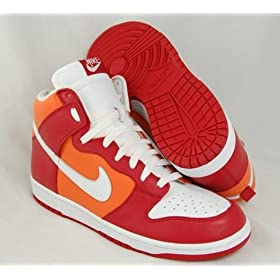 NIKE Dunk High Mens Red Basketball Shoes