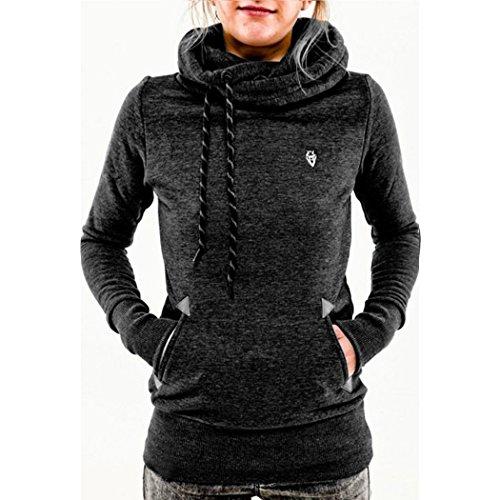ZEARO Damen Hoodie Kapuzenpullover Kapuzenpullis Sweater Langarm Pocket Slim Pullover Tops Sweatshirt