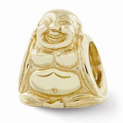 14k-Yellow-Gold-Buddha-Bead-Charm-For-Pandora-Biagi-Chamilia-European-Bracelets-Charms-For-Women