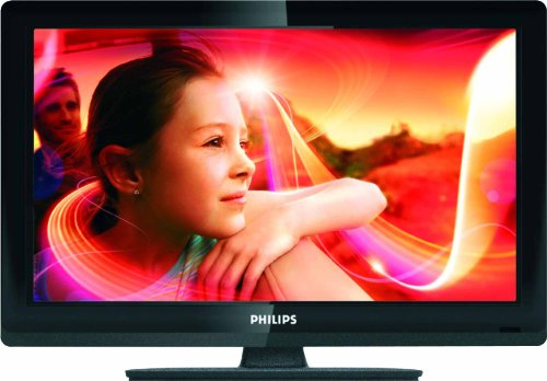 Philips 22PFL3606H/12 56 cm (22 Zoll) LCD-Fernseher, Energieeffizienzklasse B (HD-Ready, DVB-T/C) schwarz