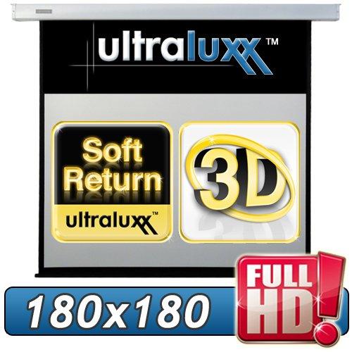 254 cm (180x180 sichtbar) ULTRALUXX © RM Automatik Rolloleinwand - 1:1 LUXUS PROFI ROLLO LEINWAND - Neuware DIREKT vom Hersteller