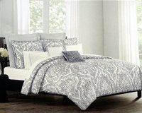 Tahari Bedding 3 Piece Full / Queen Duvet Cover Set Gray ...