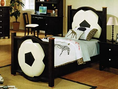 Twin Size Bed with Soccer Design