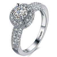 FENDINA Womens Wedding Engagement Ring Classic Solitaire ...