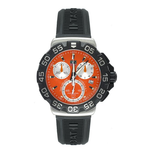 TAG Heuer Men's CAH1113.BT0714 Formula 1 Collection Chronograph Black Rubber Watch