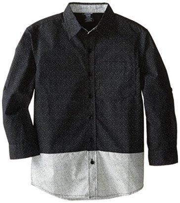 American-Hawk-Big-Boys-Color-Block-Patterned-Sport-Shirt