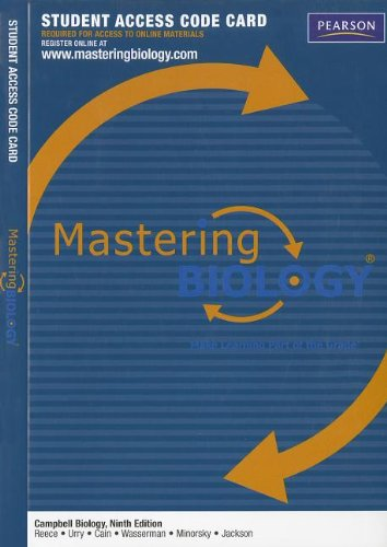 Textbook Masteringbiology  Standalone Access Card