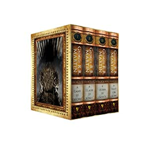 The George R.R. Martin Song Of Ice and Fire Hardcover Box Set featuring A Game of Thrones, A Clash of Kings, A Storm of Swords, and A Feast for Crows (Amazon Exclusive)