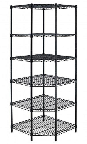 New Heavy Duty Wire Steel 6-Tier Corner Shelf Garage