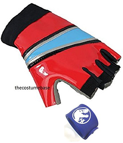 Harley Quinn GLOVES Biker Suicide Squad Costume Glove with Jurassic Wristband
