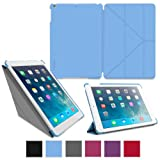 rooCASE Apple iPad Air Case - Slim Shell Origami Case for Apple iPad 5 Air (5th Gen) Tablet, BLUE (With Smart Cover Auto Wake / Sleep)