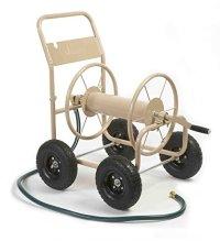 Hose Reel Cart With 4 Wheels Garden Metal Water Heavy Duty ...