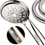 HotelSpa 9-Setting Luxury Brushed Nickel Hand Shower