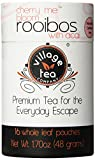 Village Tea Company Cherry Me Bloom Rooibos with Acai Tea,  16 Count Biodegradable Pouch