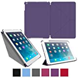 rooCASE Apple iPad Air Case - Slim Shell Origami Case for Apple iPad 5 Air (5th Gen) Tablet, PURPLE (With Smart Cover Auto Wake / Sleep)