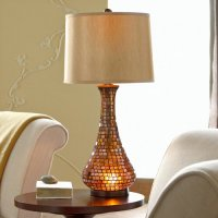 chris madden: Chris Madden Amber Mosaic Table Lamp