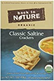 Back to Nature Organic Saltines, 7 Ounce