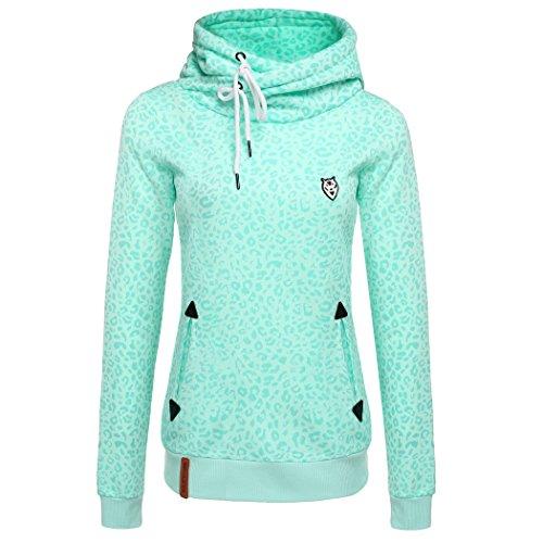 ZEARO Winter Damen Hoodies Kapuzenpullover Langarm Sweatshirt Pullover Tops Jumper