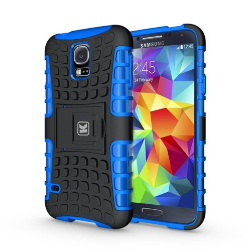 KAYCASE Heavy Duty Cover Case for Samsung Galaxy S5 SV S V Smart Phone (Lifetime Warranty) (Blue)