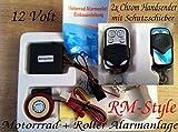 Motorrad Alarmanlage Motorstart + 2 Sender universal