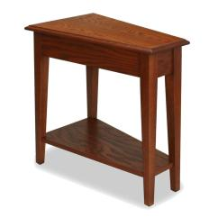 Side Table For Recliner Chair Dining Seat Covers Diy Amazon Leick End Medium Oak Finish