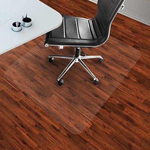 etm® Bodenschutzmatten Hartboden | extra transparent und rutschfest | optimales Gleitverhalten für Stuhlrollen | Größen mit und ohne Lippe wählbar