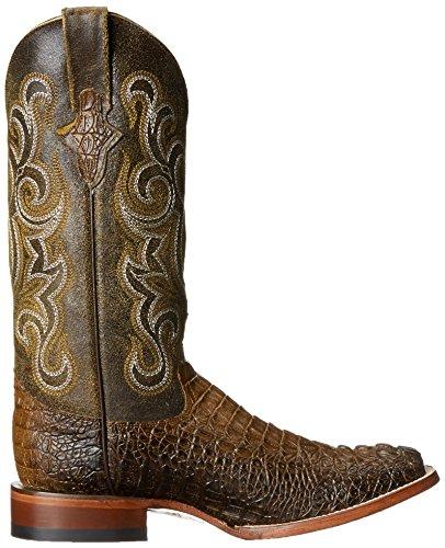 9319b828111 Product Description. Ferrini Men  s Print Belly Gator Square Toe Chocolate Cowboy  Boot ...