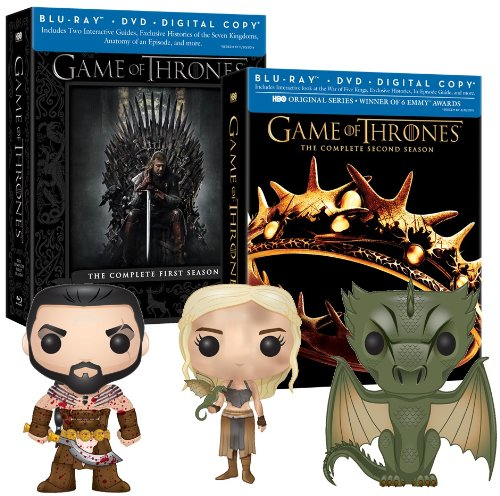 Game of Thrones Seasons 1 & 2 with Exclusive Funko Pop Vinyls (Blu-ray/DVD Combo + Digital Copy)