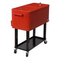 Portable Bar Cooler Rolling Patio Deck Cart Beer Storage ...