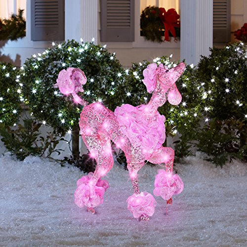 Christmas Puppy Dogs Lighted Yard Displays