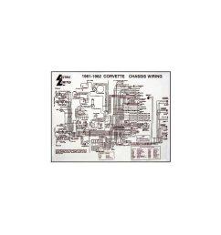corvette c1 wiring diagram 17x22 laminated [ 960 x 960 Pixel ]