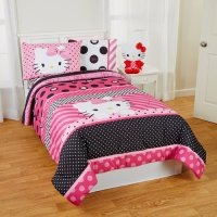 Hello Kitty Twin Sheets Comforter Sets Pink Bedroom Decor ...