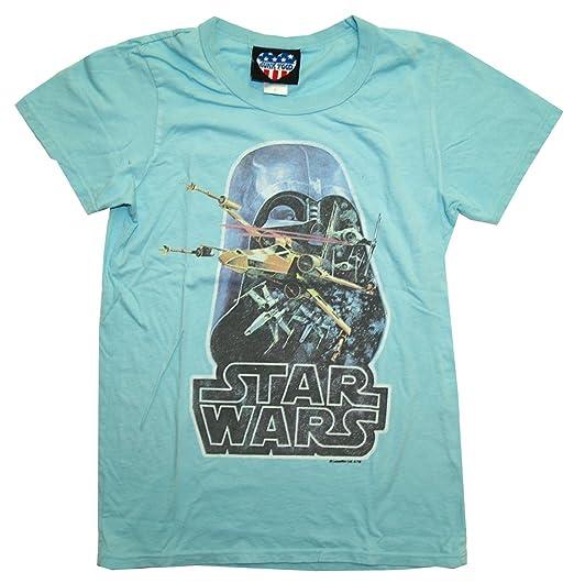 Star Wars Darth Vader Retro X Wing Junk Food Soft Juniors Babydoll T-Shirt Tee