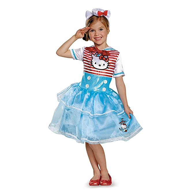 Disguise 88678L Hello Kitty Sailor Deluxe Tutu Costume, Small (4-6x)