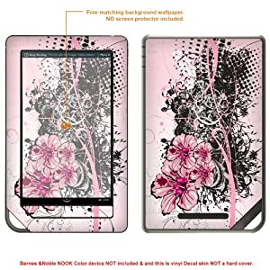 Protective Decal Skin Sticker for Barnes Noble NOOK COLOR release 2010 case cover NOOKcolor-380