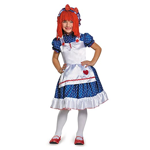 Disguise 84081M Raggedy Ann Costume, X-Small (3T-4T)