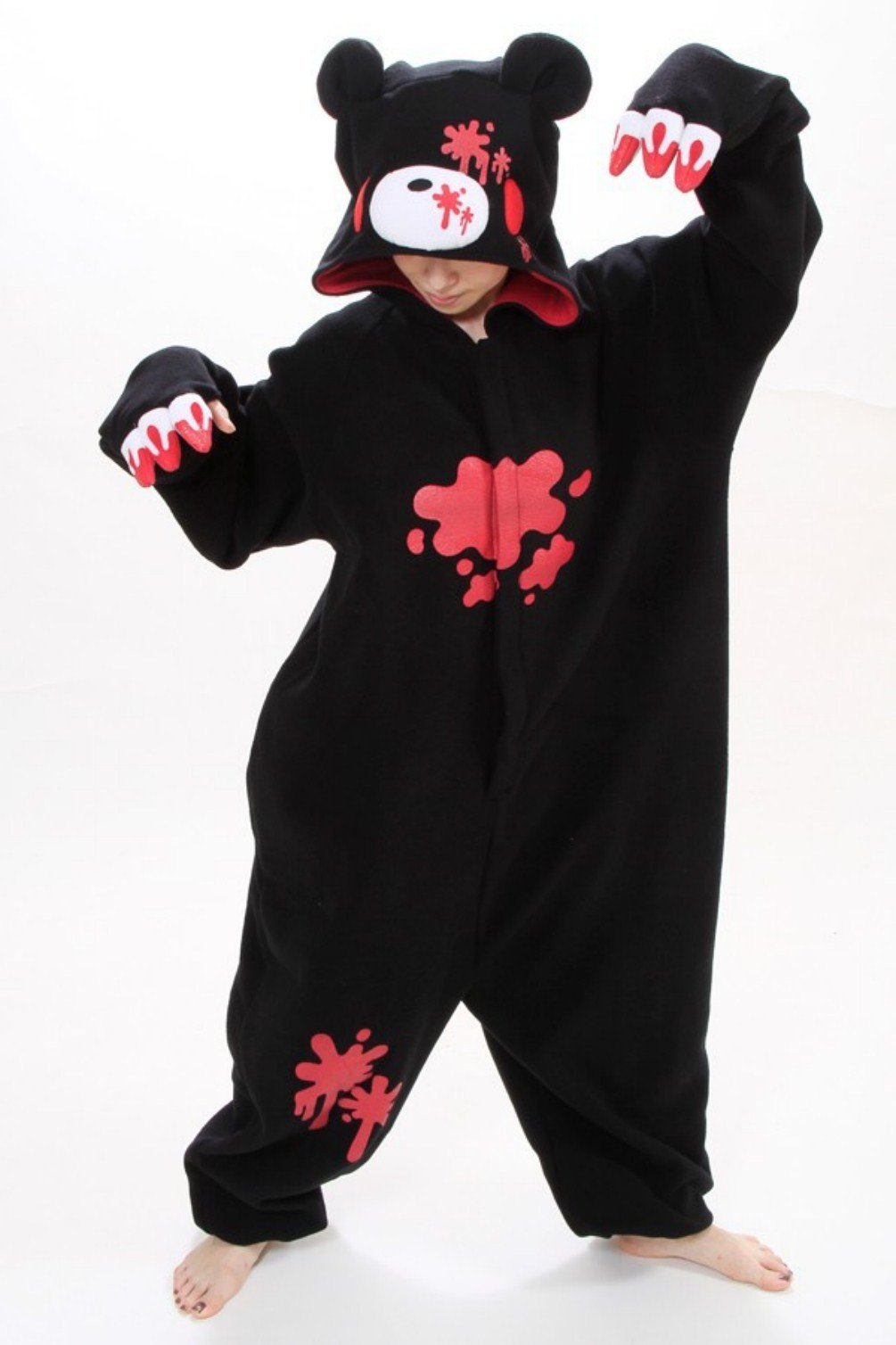 Black Anime Pokemon Violet bear Cosplay Costume Polar Fleece