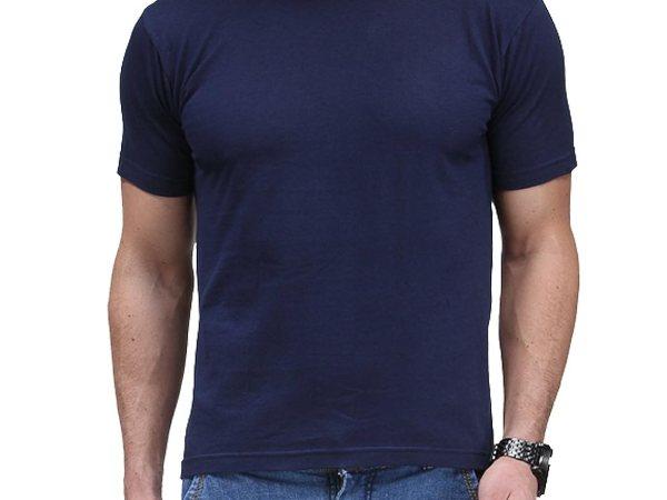 Scott Men's Biowash Cotton Round Neck T-shirt - Navy Blue