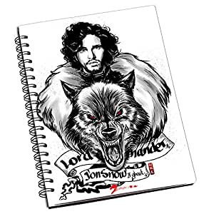 Bluegape Aky anyme Game of Thrones Jon Snow Notebook