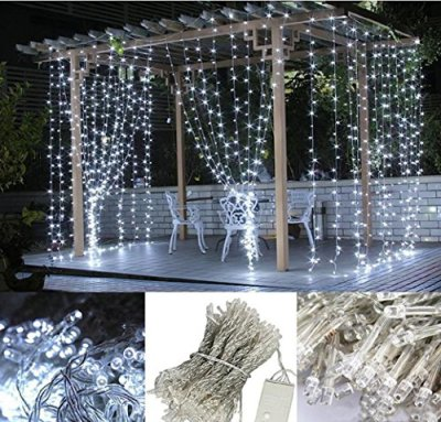300-LED-Curtain-Lights-3M-x-3M-Warm-White-Curtain-Icicle-Lights-Christmas-Curtain-String-Fairy-Wedding-Led-Lights-for-Holiday-Party-Outdoor-Wall-Bathroom-Wedding-Decorations