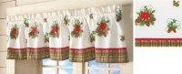 Poinsettia Window Valances | Christmas Wikii