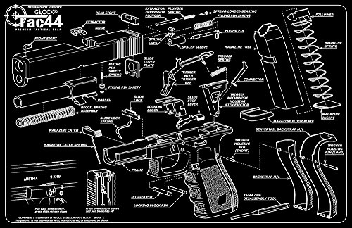 gun cleaning and assembly mat with glock diagram glock. Black Bedroom Furniture Sets. Home Design Ideas