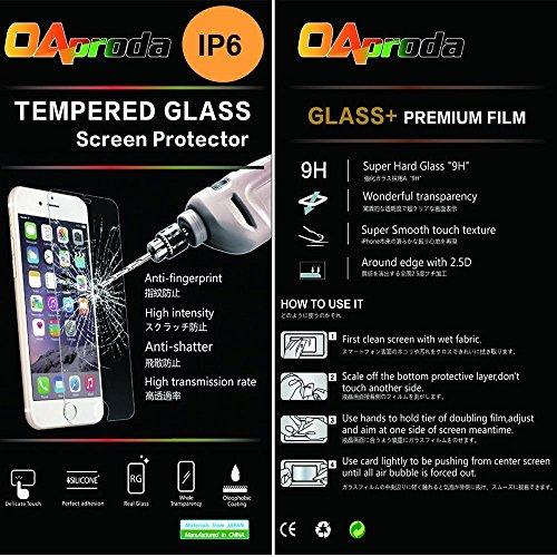 OAproda Iphone6 Iphone6s 対応 日本製素材旭硝子製(AGC)のガラスを採用する強化ガラス保護フィルム 4.7インチ  0.3mm,硬度9H  3D Touch対応 2.5D ラウンドエッジ加工 気泡ゼロ 耐指紋 撥油性 99%高透過率 耐衝撃 飛散防止処理 C-Glass