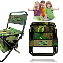 Kid Camping Chair Computer Desk And Portable Folding Kids Storage Zipper Outdoor