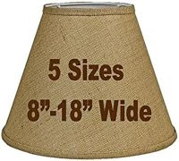 "12""W Tapered Burlap Lamp Shade Vintage Rustic Country ..."