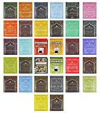 Harney & Sons Tea Variety Pack Sampler Assortment of Black Tea, Green Tea, Herbal Tea, Fruit Tea, Berry Tea & Many More! Variety Pack Includes Hot Cinnamon Spice, Organic Earl Grey, Organic Peppermint, Orange Peko, Chai, Ceylon & India, Darjeeling Highlands, Egyptian Chamomile, Japanese Sencha, Organic Rooibos, Irish Breakfast, Organic Peppermint, Tropical Green, Lemon Herbal, Holiday Tea, Organic Green, Paris, Red Raspberry & Many More!! Includes Our Exclusive Custom Varietea Mints!! Bulk Sampler of 40 Harney & Sons Tea Bags (40 Count)