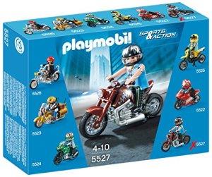Playmobil-Coleccionables-Moto-Custom-playset-5527