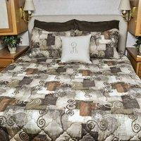 Short Queen RV Bedspread 3 pc set Camper, RV, Travel ...